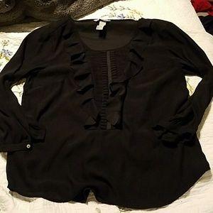 H&M black sheer top